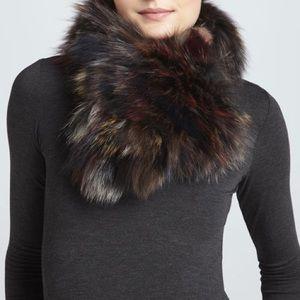 Scarf real fur fox multicolor new